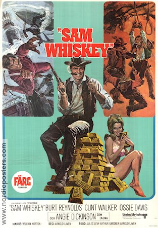 Sam Whiskey 1969 poster Burt Reynolds