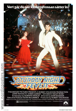 Saturday Night Fever 1978 poster John Travolta John Badhamn