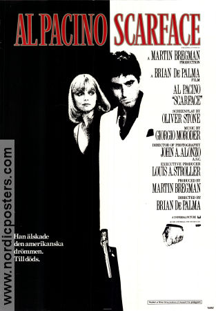 Film Poster Scarface 1983 Sweden