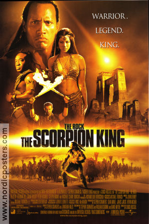 The Scorpion King 2001 poster The Rock