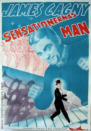 Sensationernas man 1937 poster James Cagney