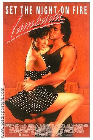 Set the Night on Fire Lambada 1990 poster Melora Hardin