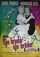 Seven Brides For Seven Brothers 1954 poster Howard Keel