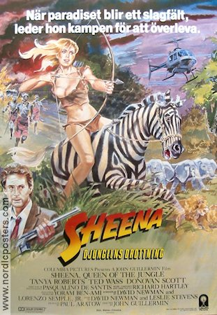 Sheena Queen of the Jungle 1984 poster Tanya Roberts