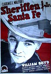 Sheriffen från Santa Fe 1940 poster William Boyd