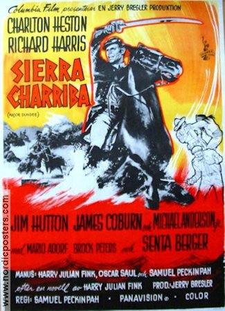 Sierra Charriba 1965 poster Charlton Heston Sam Peckinpah