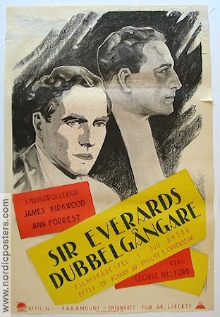 Sir Everards dubbelgångare 1923 poster James Kirkwood