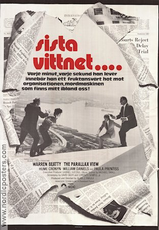 Sista vittnet 1974 poster Warren Beatty Alan J Pakula