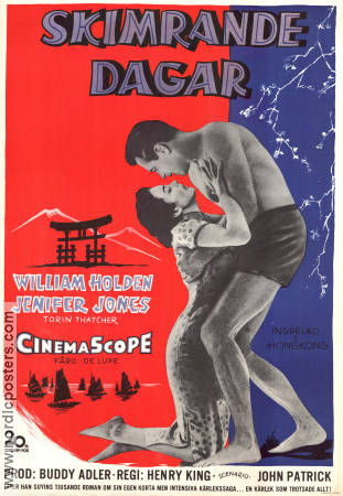 Skimrande dagar 1955 poster William Holden