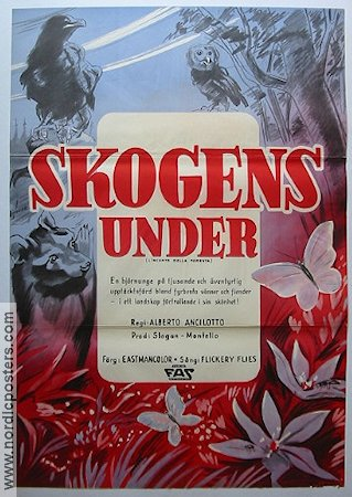 Skogens under 1959 poster Alberto Ancilotto
