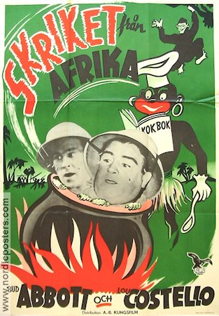 Skriket från Afrika 1949 poster Abbott and Costello