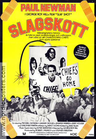 Slagskott 1977 poster Paul Newman George Roy Hill