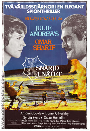 Snärjd i nätet 1974 poster Julie Andrews Blake Edwards