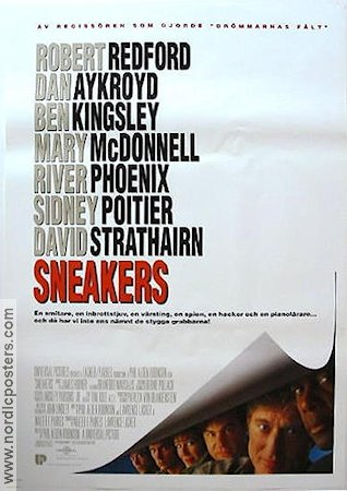 Sneakers 1992 poster Robert Redford