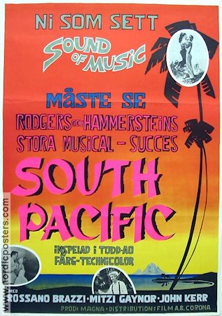 South Pacific 1958 poster Mitzi Gaynor