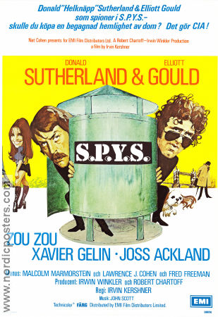 S.P.Y.S 1974 poster Donald Sutherland