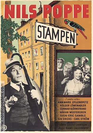 Stampen 1954 poster Nils Poppe