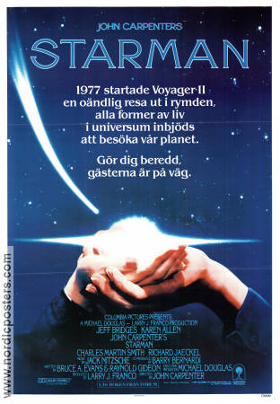 Starman 1984 poster Jeff Bridges John Carpenter