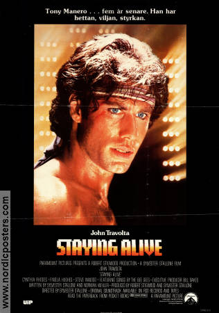 Staying Alive 1983 poster John Travolta