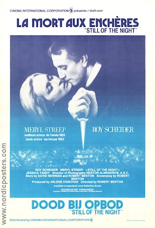 Still of the Night 1982 poster Meryl Streep