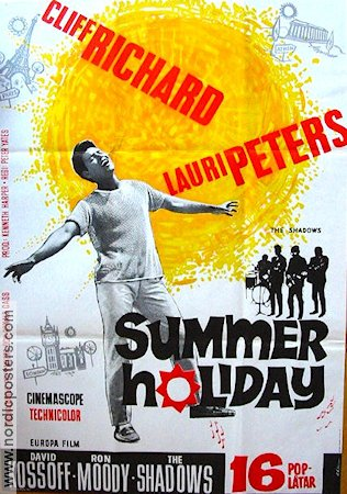 Summer Holiday 1963 poster Cliff Richard Peter Yates