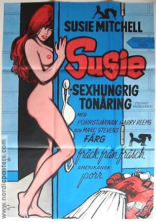Susie sexhungrig tonåring 1974 poster Susie Mitchell
