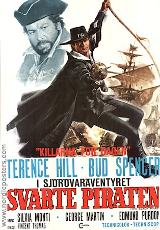 Svarte piraten 1972 poster Terence Hill Vincent Thomas