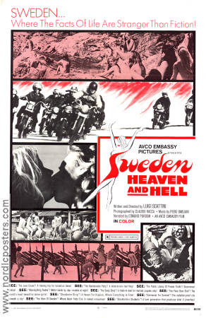 Sweden Heaven and Hell 1968 poster Edmund Purdom Luigi Scattini