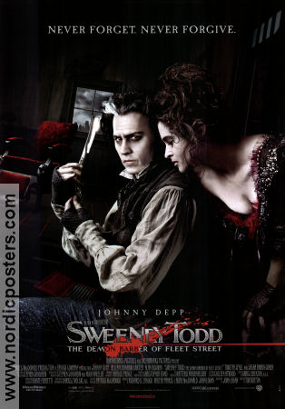 Sweeney Todd 2007 poster Johnny Depp Tim Burton