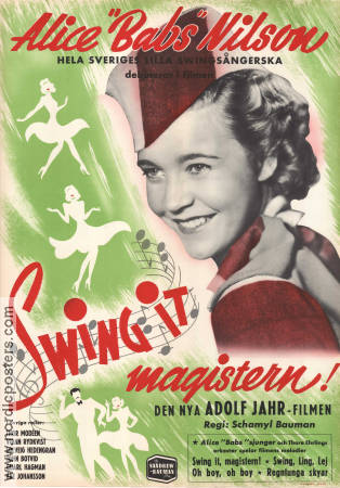Swing it magistern 1940 poster Alice Babs Schamyl Bauman