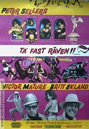Ta fast räven 1966 poster Peter Sellers