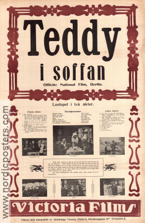 Teddy i soffan 1915 poster Victor Arnold