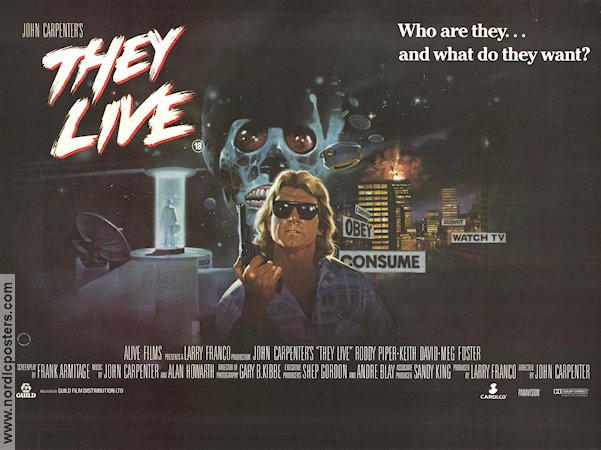 They Live 1988 poster Roddy Piper John Carpenter