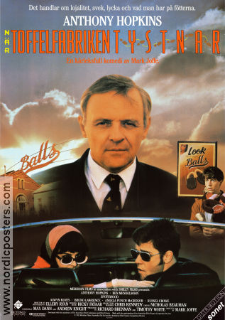 Toffelfabriken tystnar 1991 poster Anthony Hopkins
