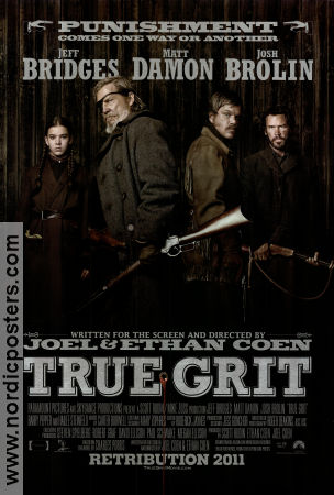 True Grit 2010 poster Jeff Bridges Joel Ethan Coen