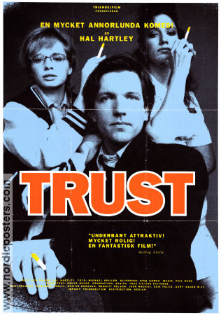 Trust 1990 poster Adrienne Shelly Hal Hartley