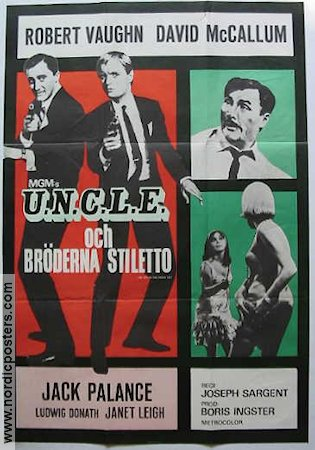 UNCLE och bröderna Stiletto 1967 poster Robert Vaughn
