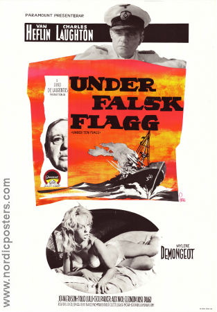Under falsk flagg Poster 70x100cm FN original