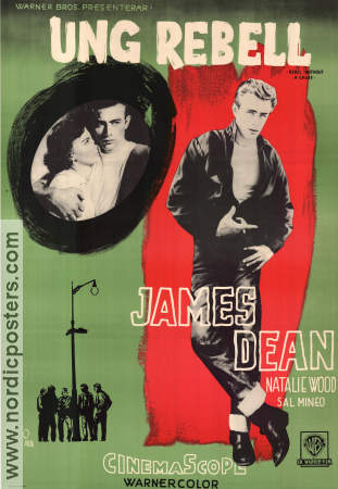 Ung Rebell 1956 poster James Dean Nicholas Ray