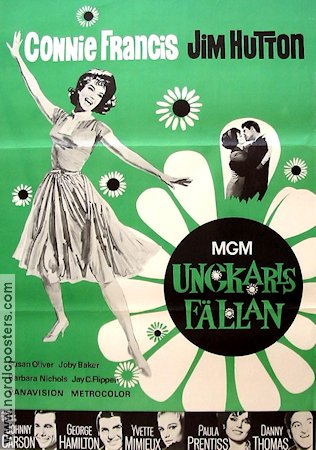 Ungkarlsfällan 1965 poster Connie Francis