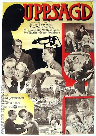 Uppsagd 1934 poster Sture Lagerwall