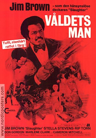 Våldets man 1973 poster Jim Brown