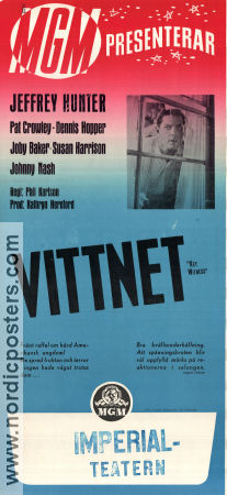 Vittnet 1960 poster Jeffrey Hunter Phil Karlson