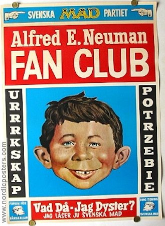 MAD Fan Club 1969 affisch MAD