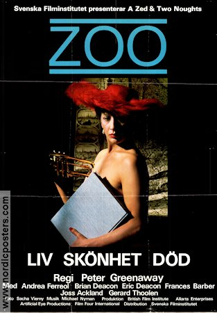 Z00 1985 poster Andrea Ferreol Peter Greenaway