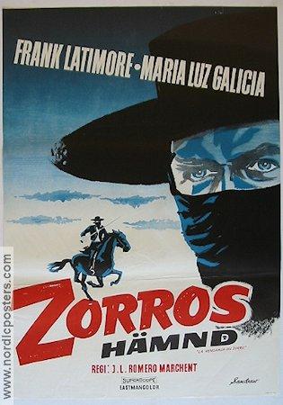 Zorros hämnd filmaffisch poster