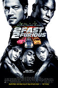 2 Fast 2 Furious (2003) Paul Walker/Tyrese Gibson/Eva Mendes Poster 68x102cm USA