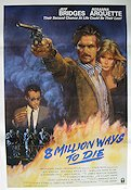 8 Million Ways to Die 1986 poster Jeff Bridges