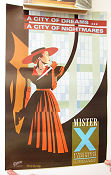 Mister X City of Dreams Vortex Signed 1983 affisch