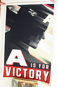 Limited litho A Is For Victory Captain America No 57 of 375 2011 affisch